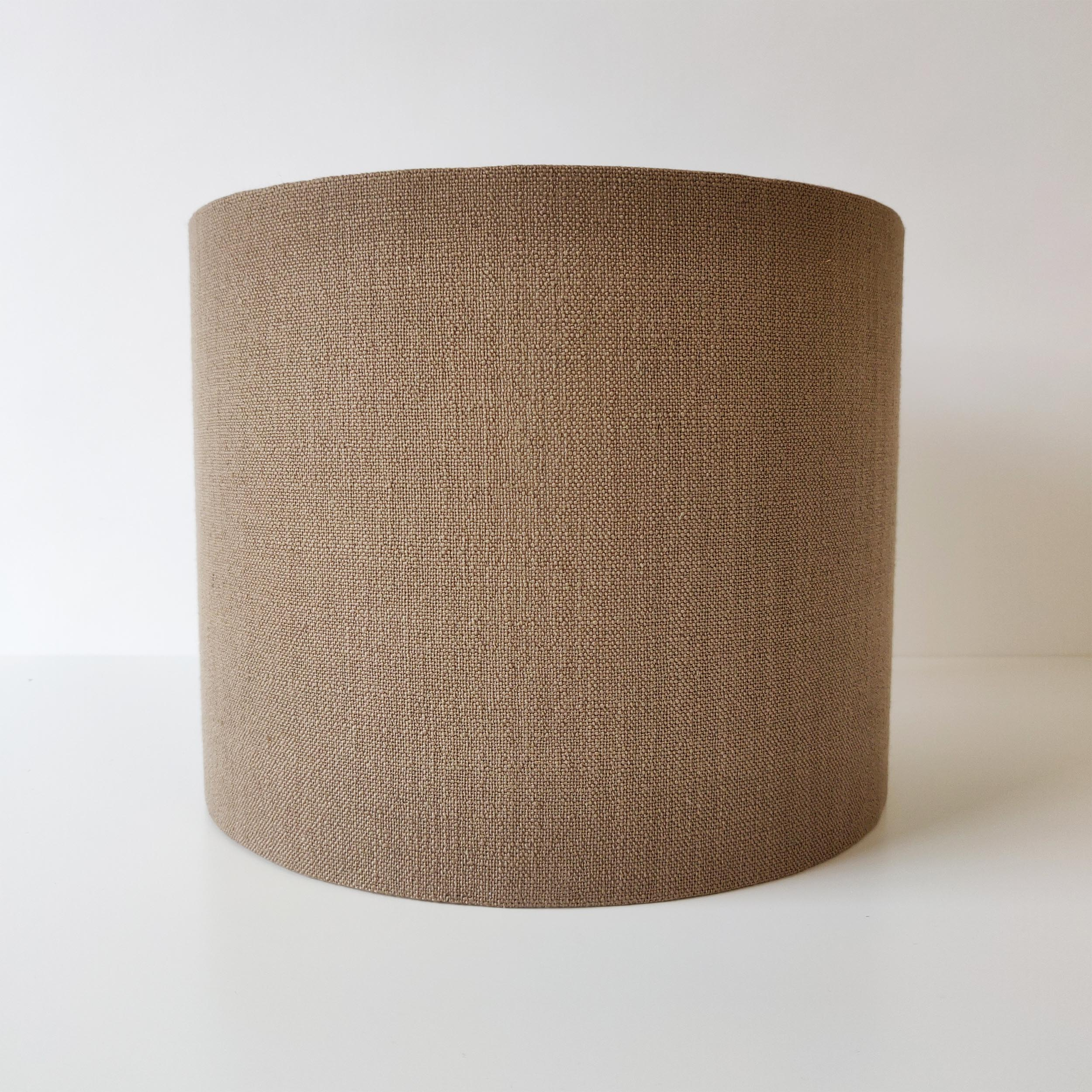 Brown Lampshade in Textured Linen