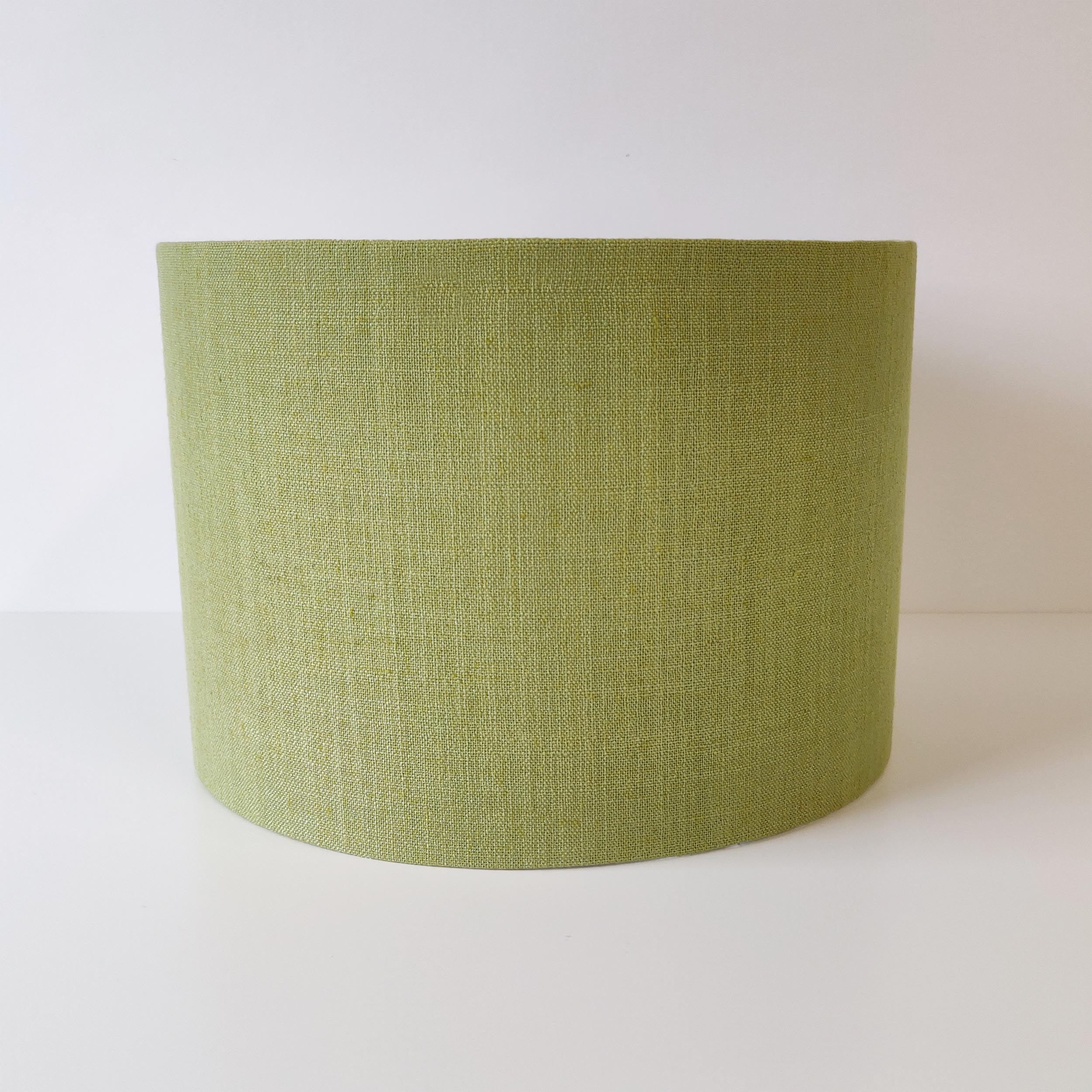 Green Lampshade in Textured Linen