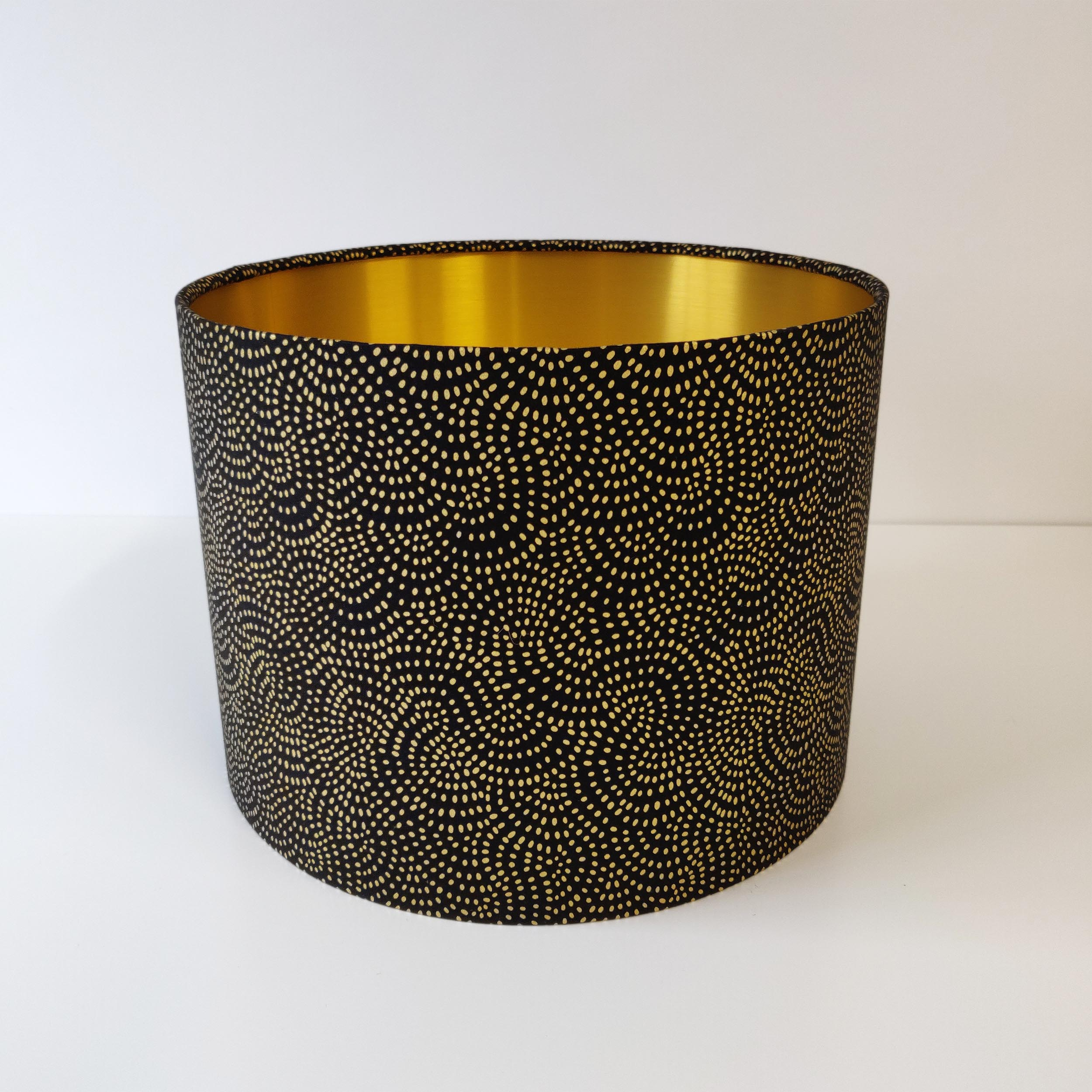 Black and Gold Lamp shade with Gold Lining