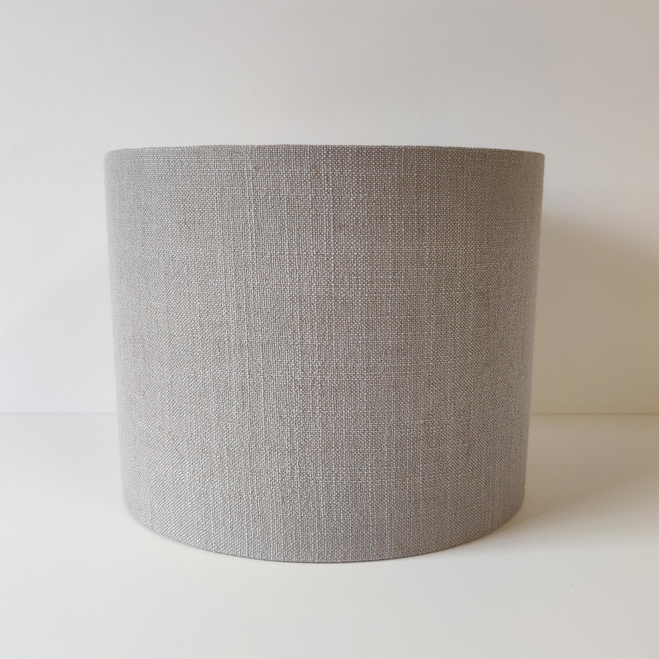 Light Grey Linen Lampshade