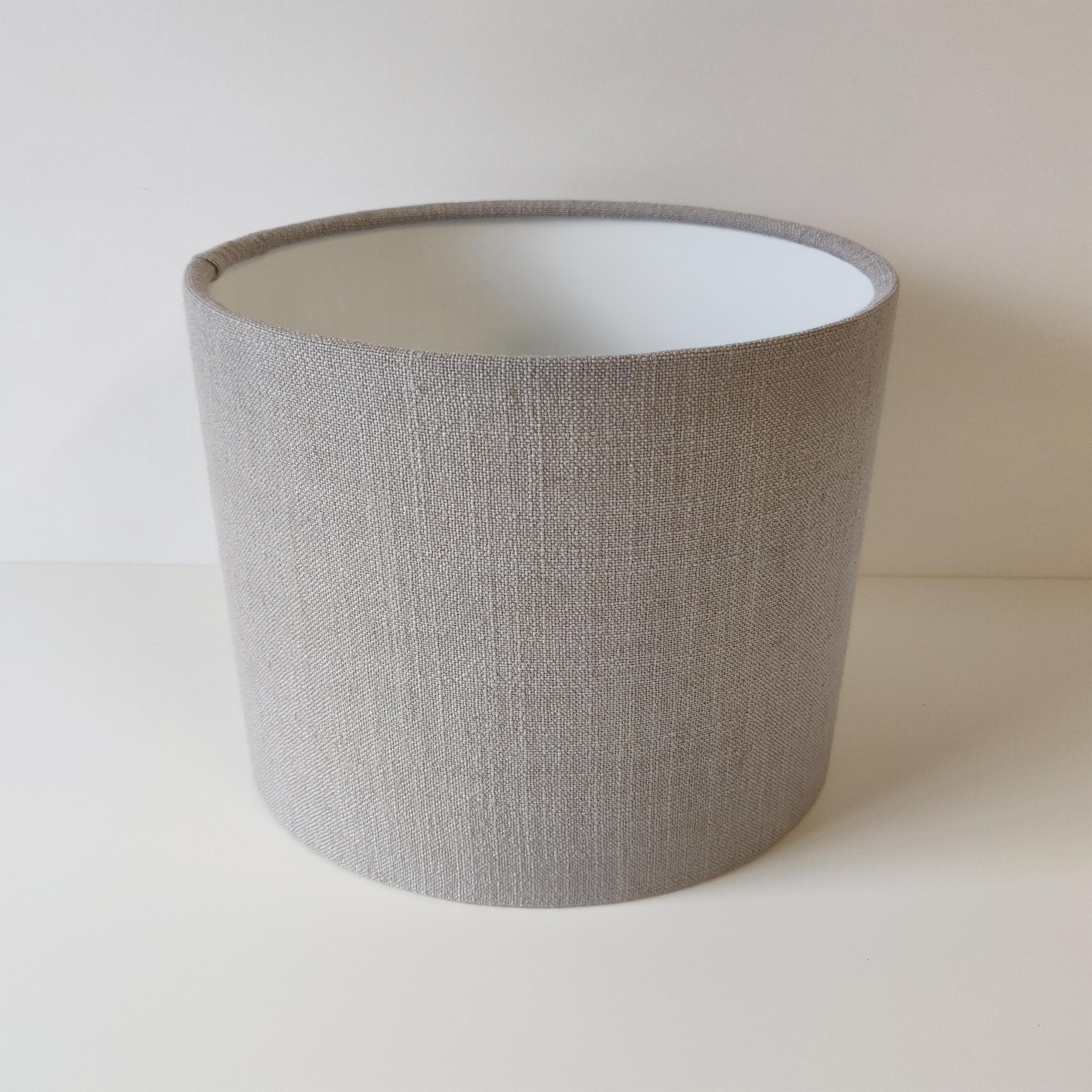 Feather Grey Linen Lampshade