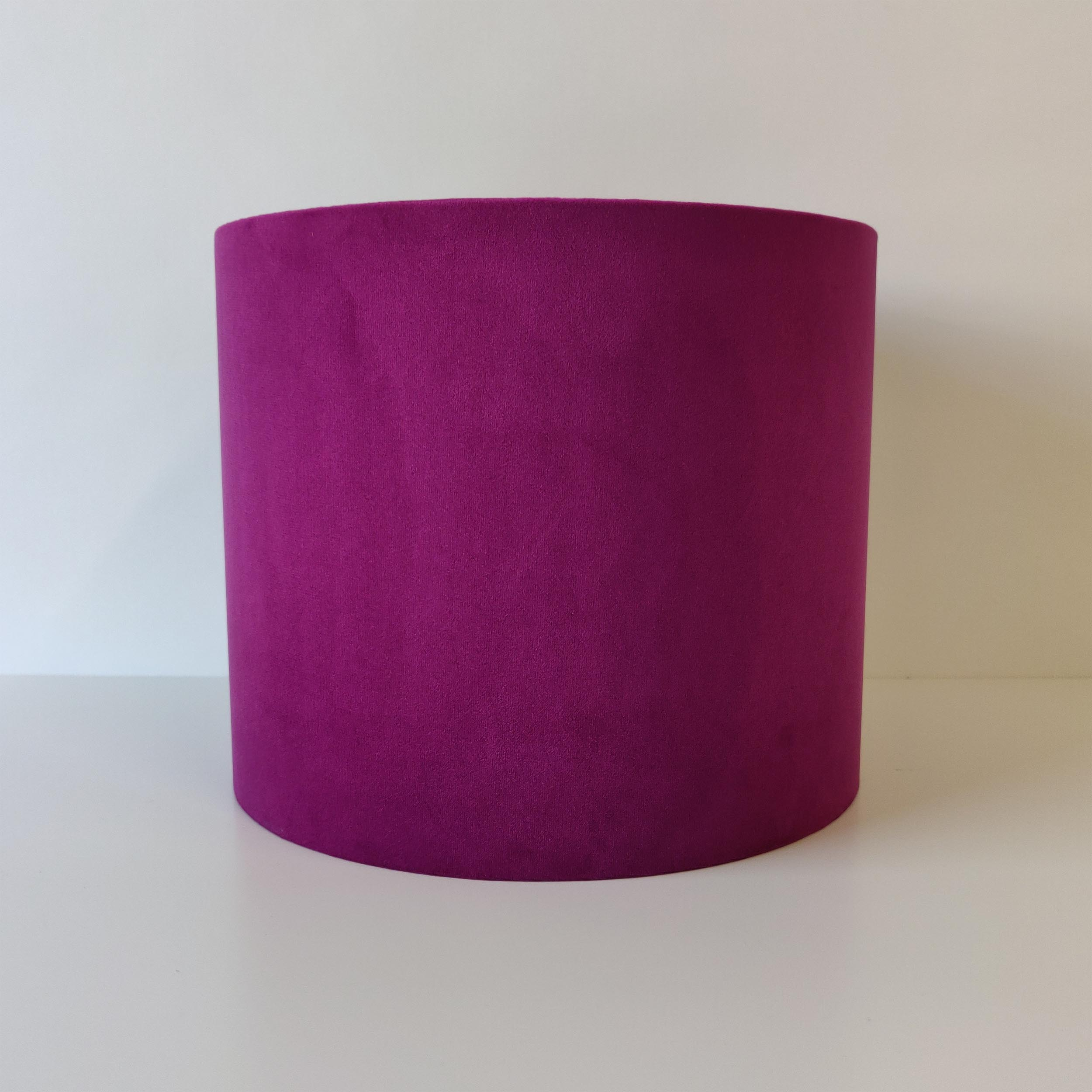 Plum Purple Velvet Lampshade with Champagne Lining