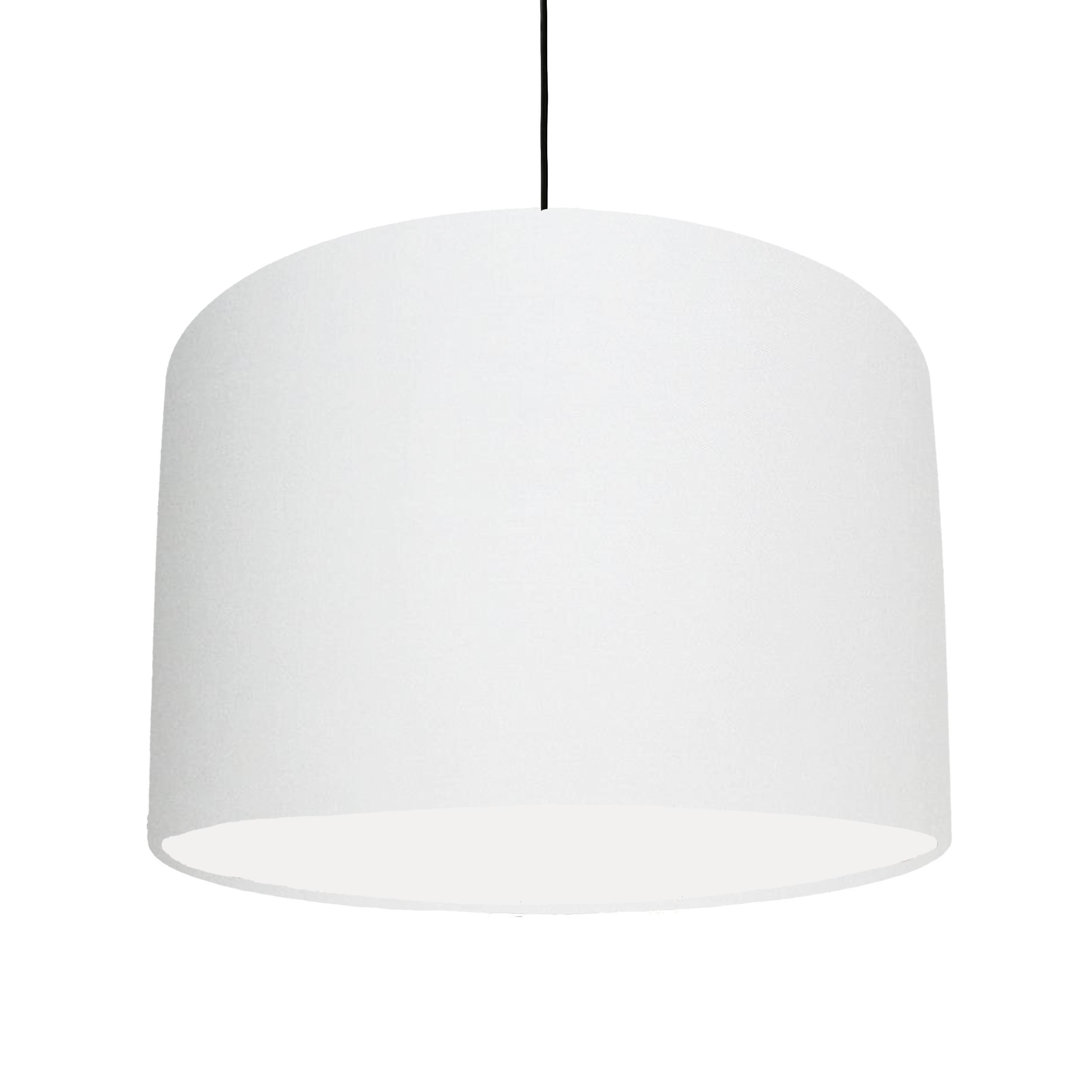 White Cotton Lampshade with White Lining