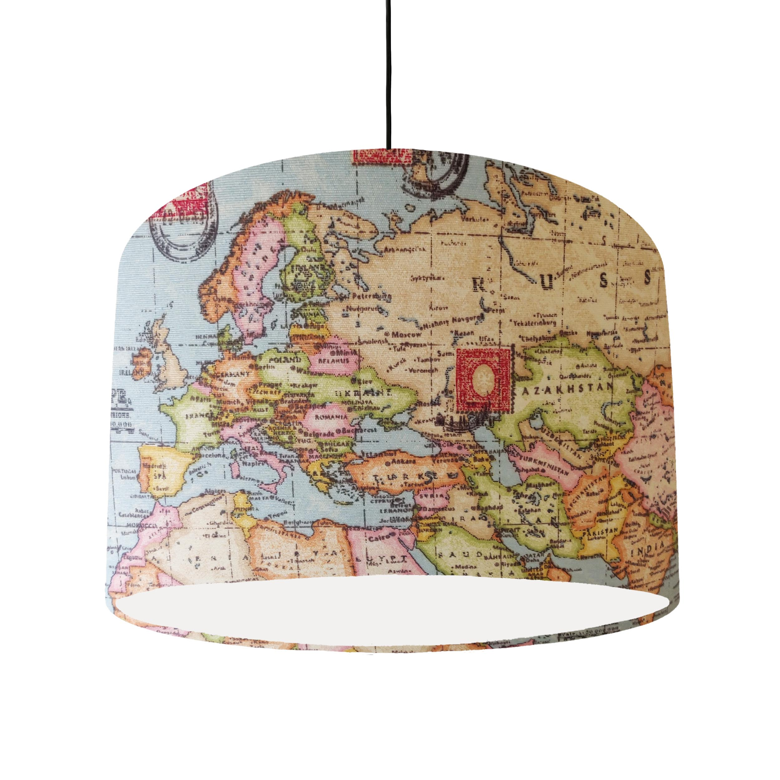 Map Ceiling Pendant Shade