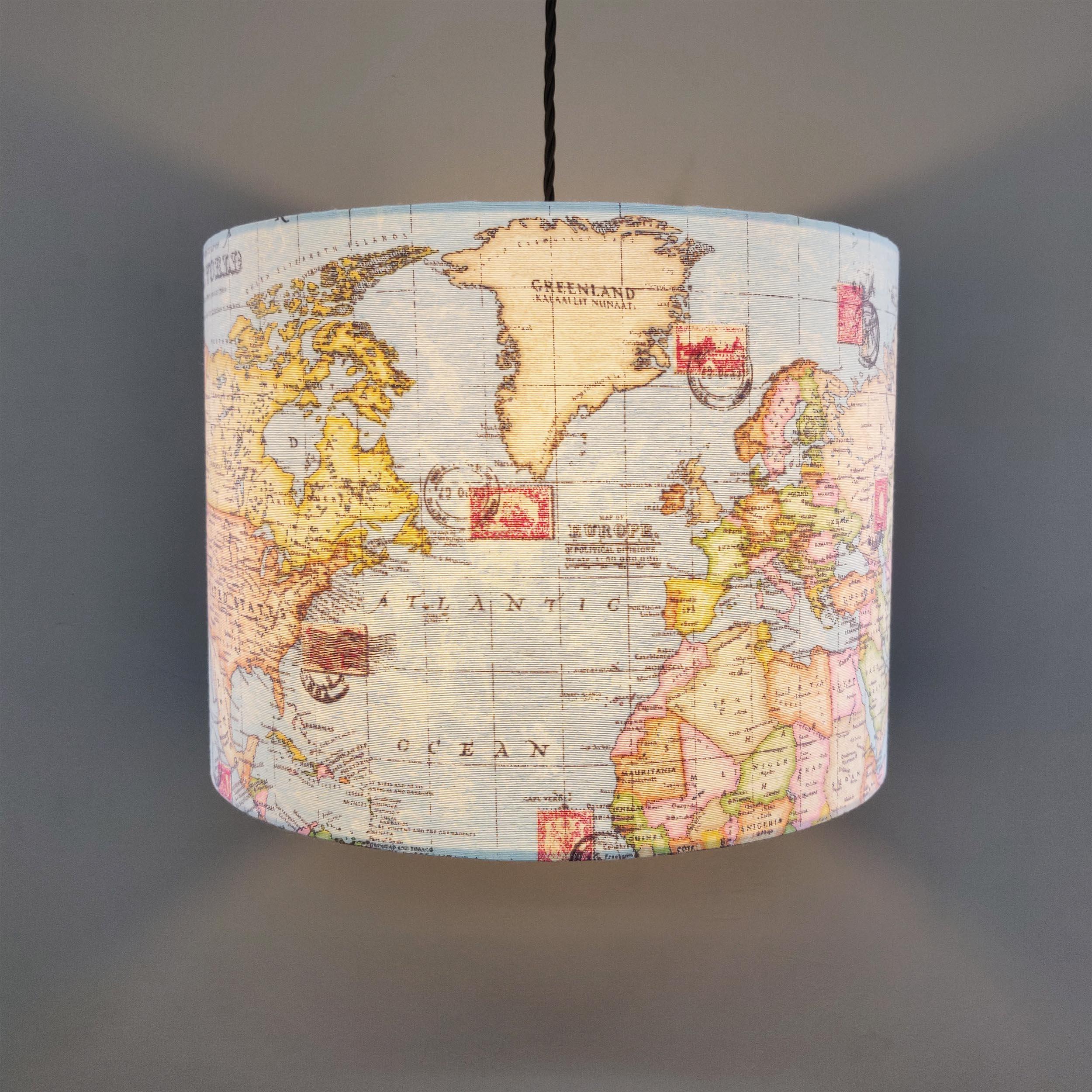 Hanging Map Lampshade