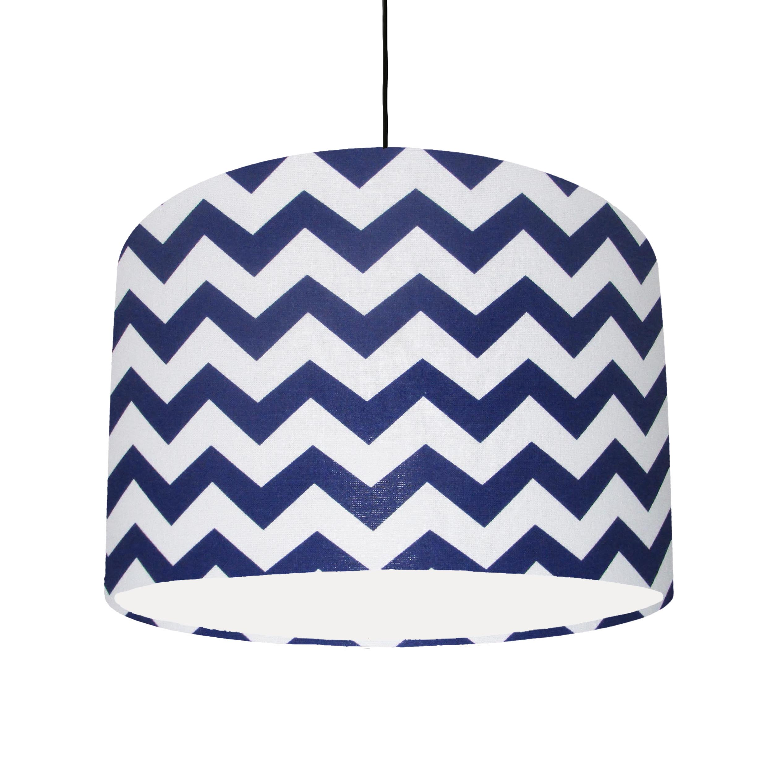 Blue and White Lampshade