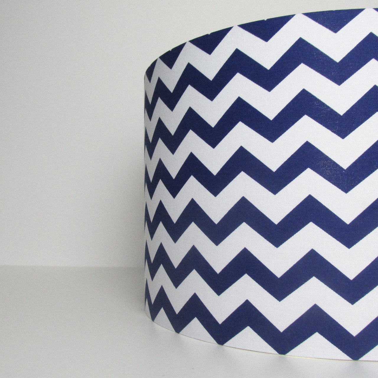 Navy Blue Chevrons Lampshade