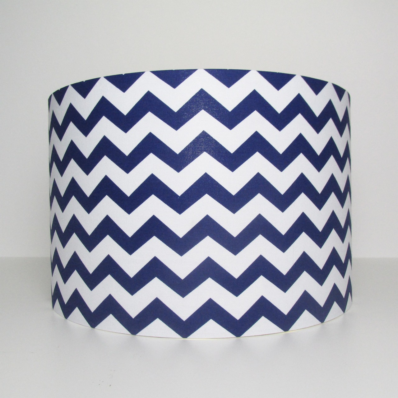 Navy Blue Chevrons Lampshade with Zig Zags