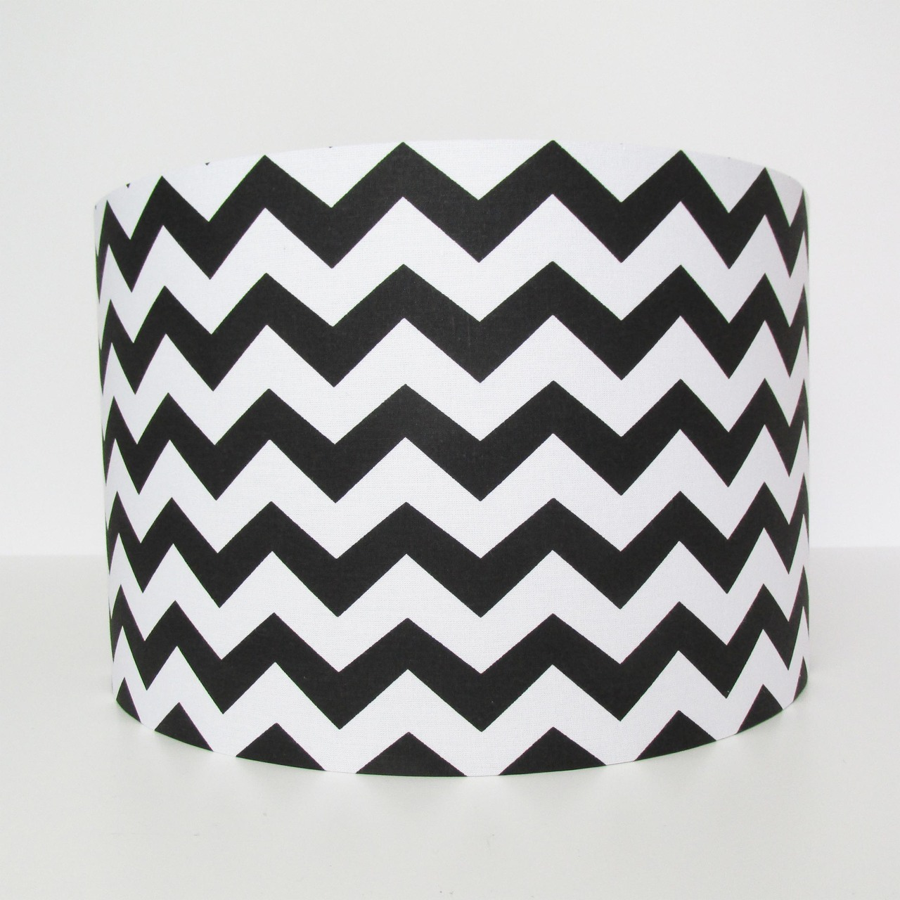 Black and White Chevrons Lampshade - zig zags