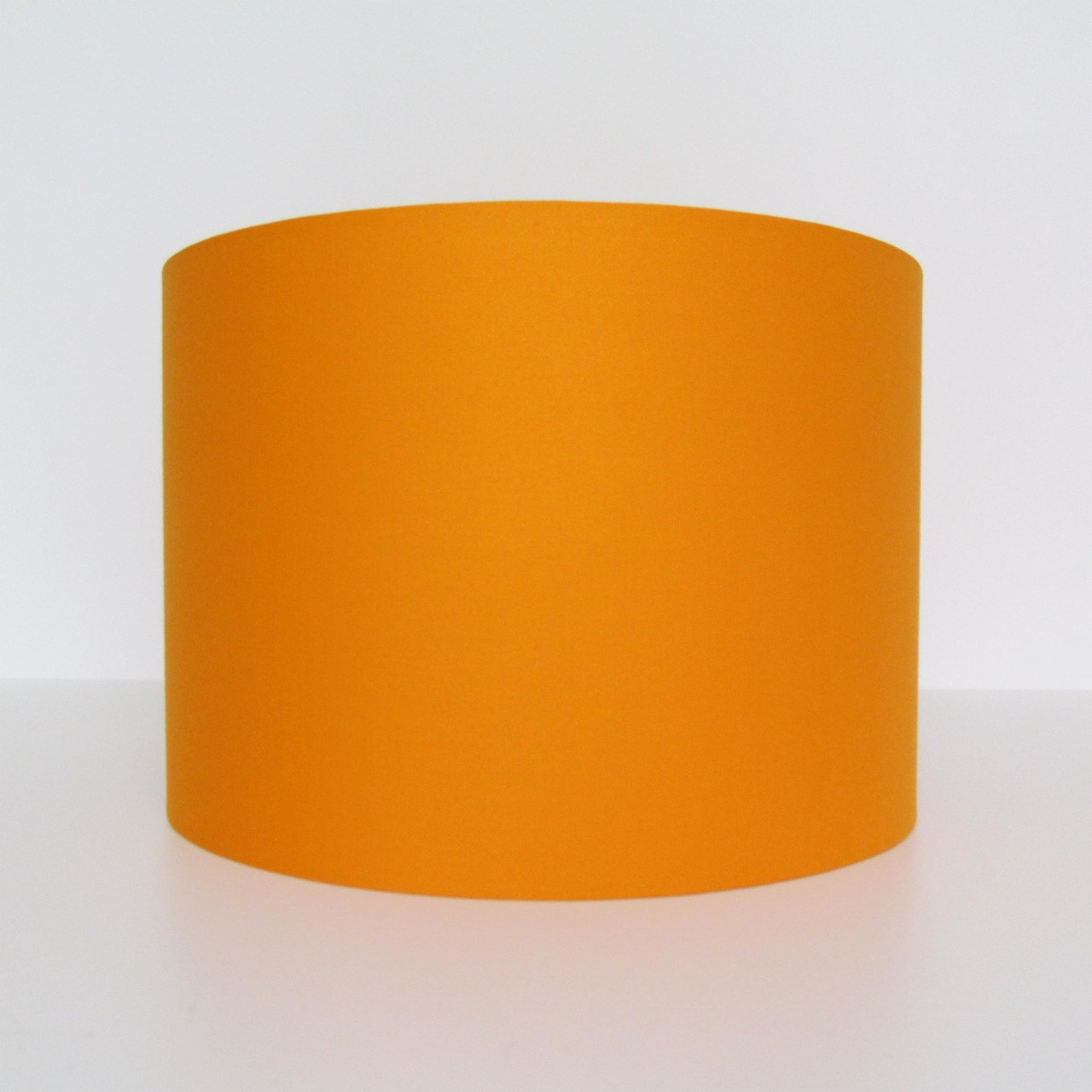 Orange Cotton Lampshade with Silver Lining