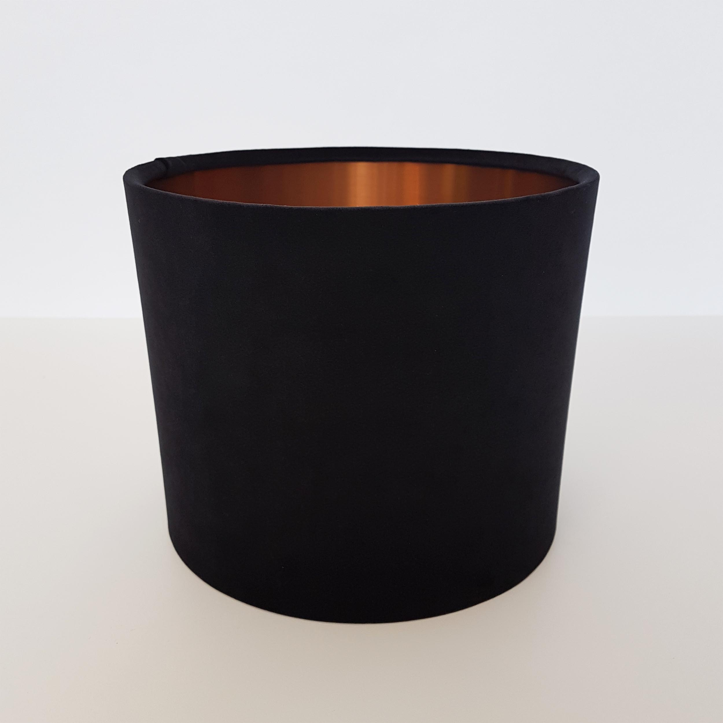 Black Velvet and Brushed Copper Lampshade
