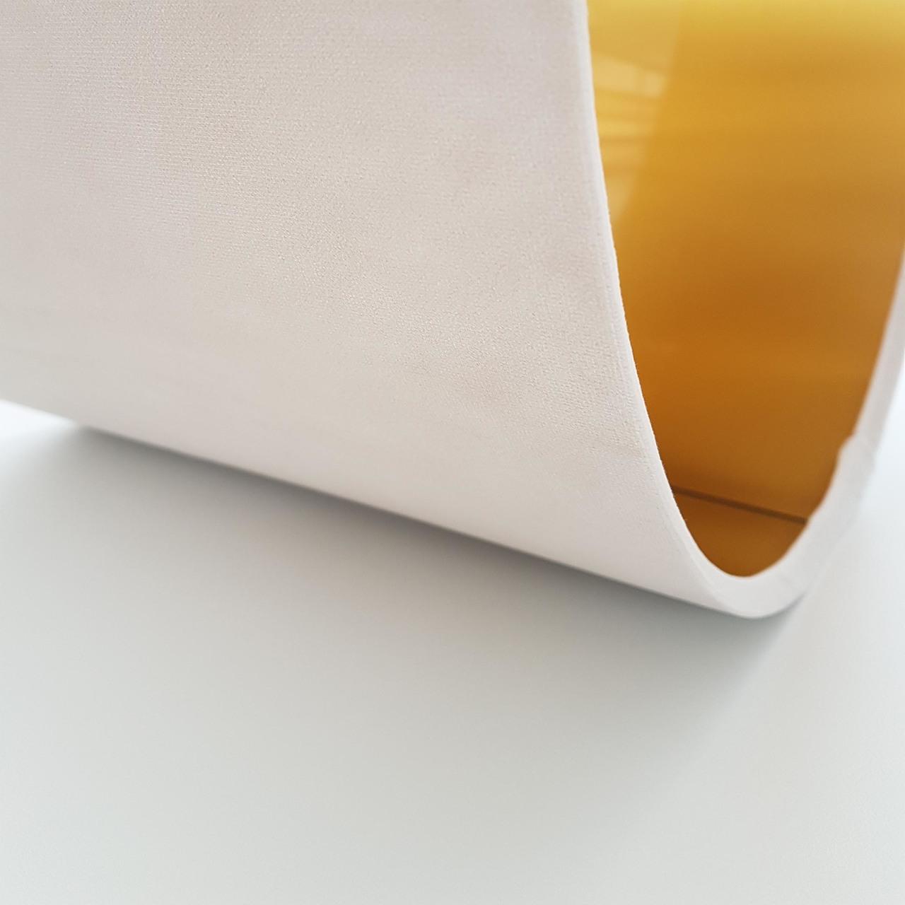 Cream Velvet and Metallic Gold Lampshade