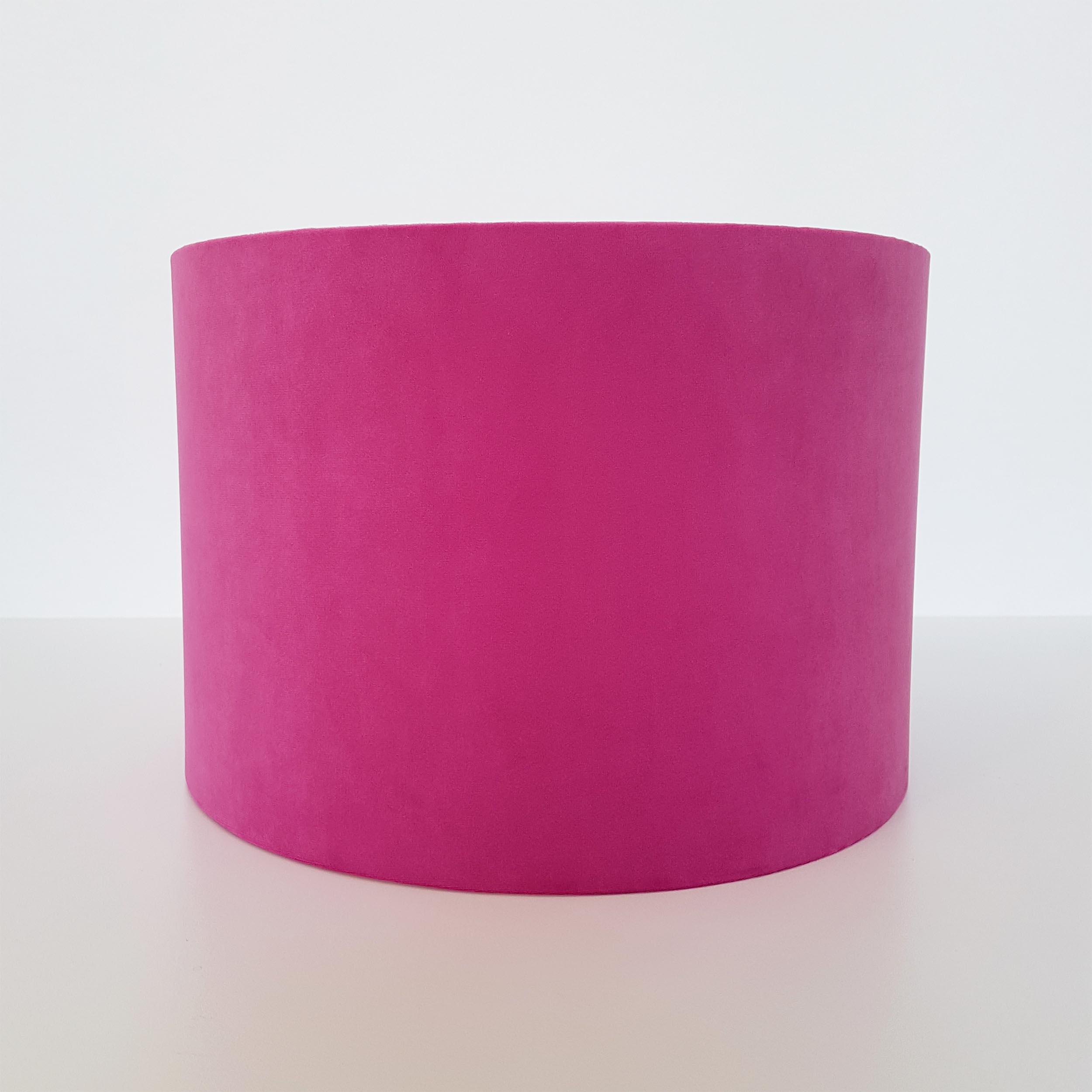 Bright Pink Lampshade in Velvet