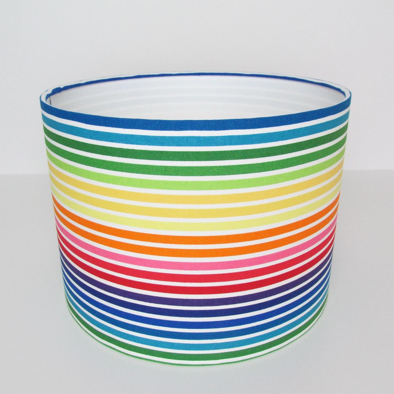 Rainbow Stripes Lampshade