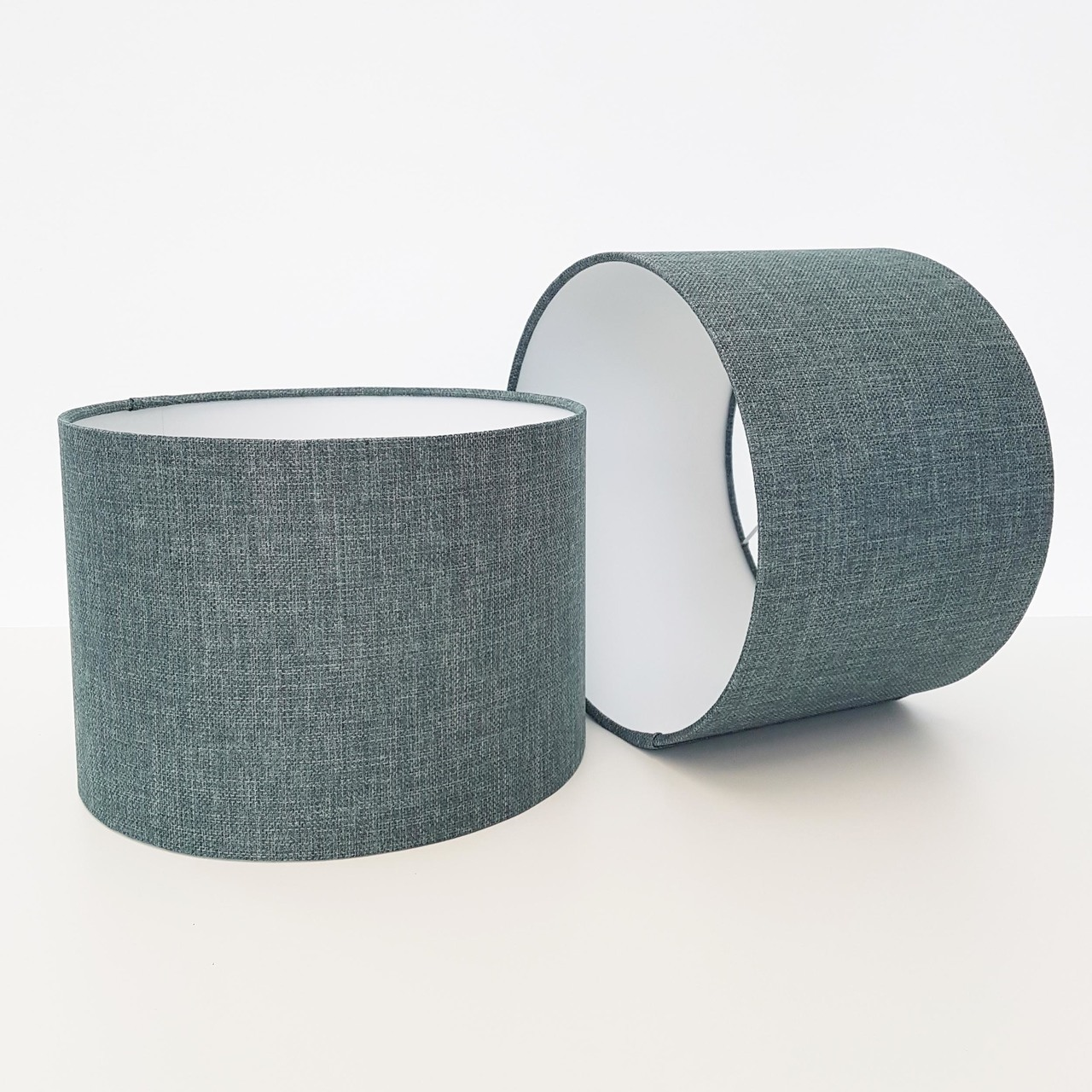 Textured Lampshade, Duck Egg Blue