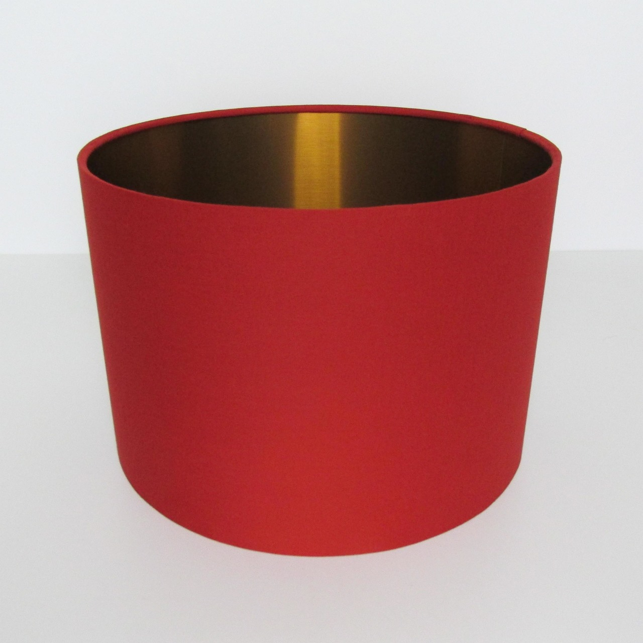 Red and Copper Lampshade - Top