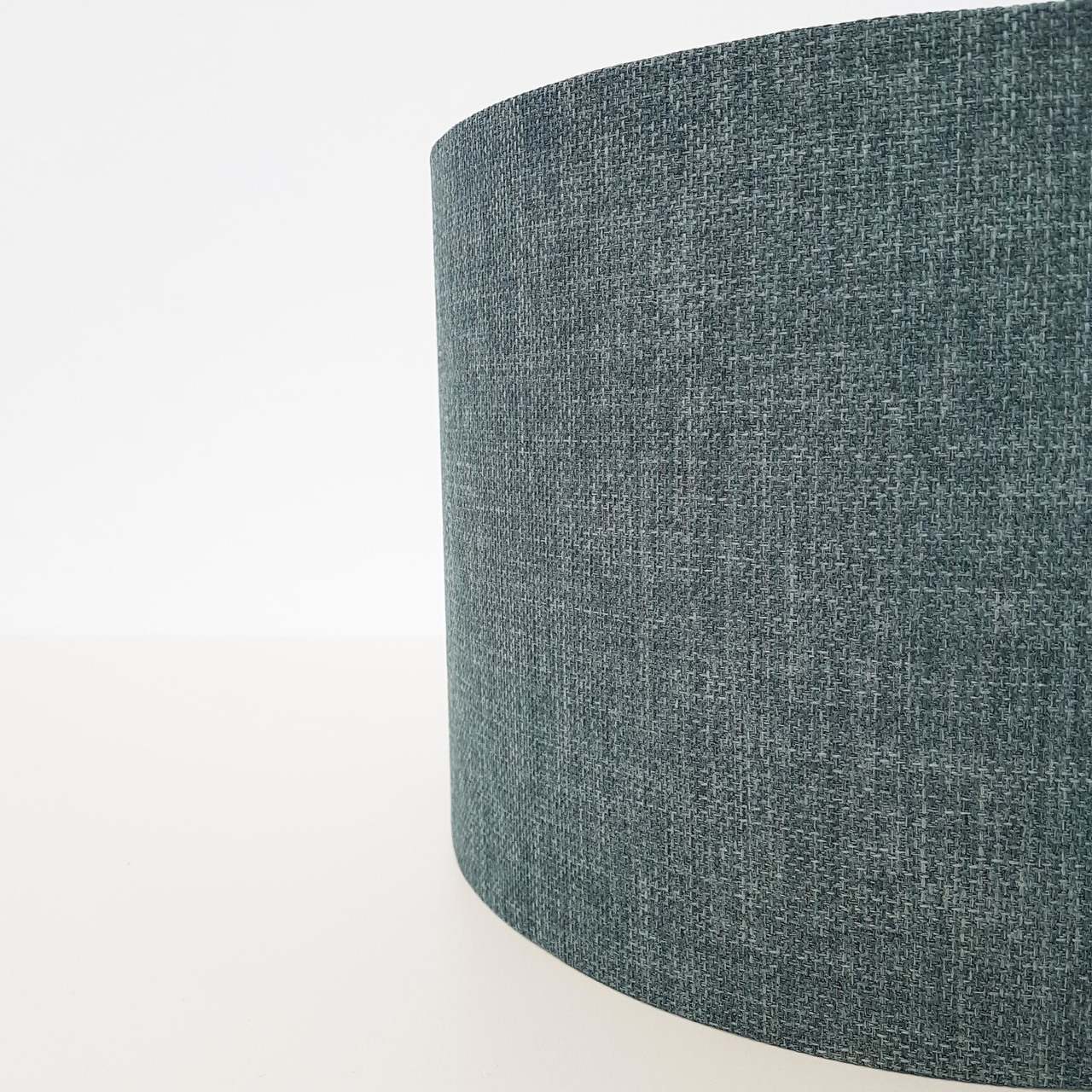 Textured Lampshade, Duck Egg Blue and Silver