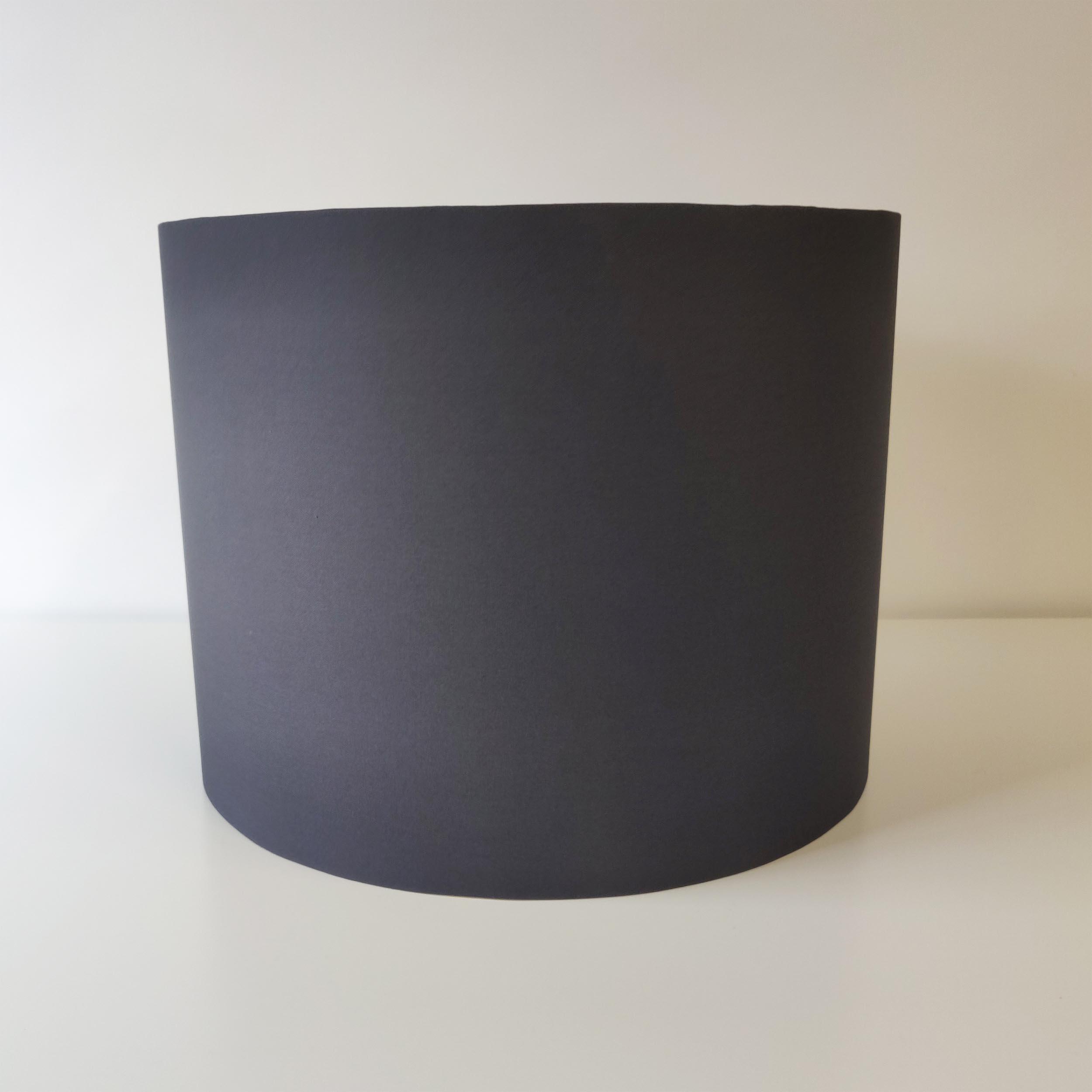 Dark Grey Cotton Lampshade