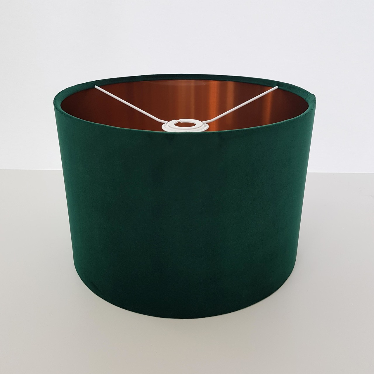 Green and Copper Lampshade, Velvet