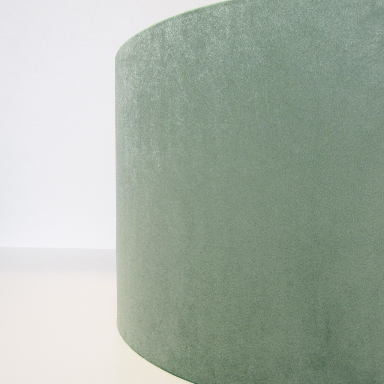 Mint Green and Silver Lampshade, Velvet
