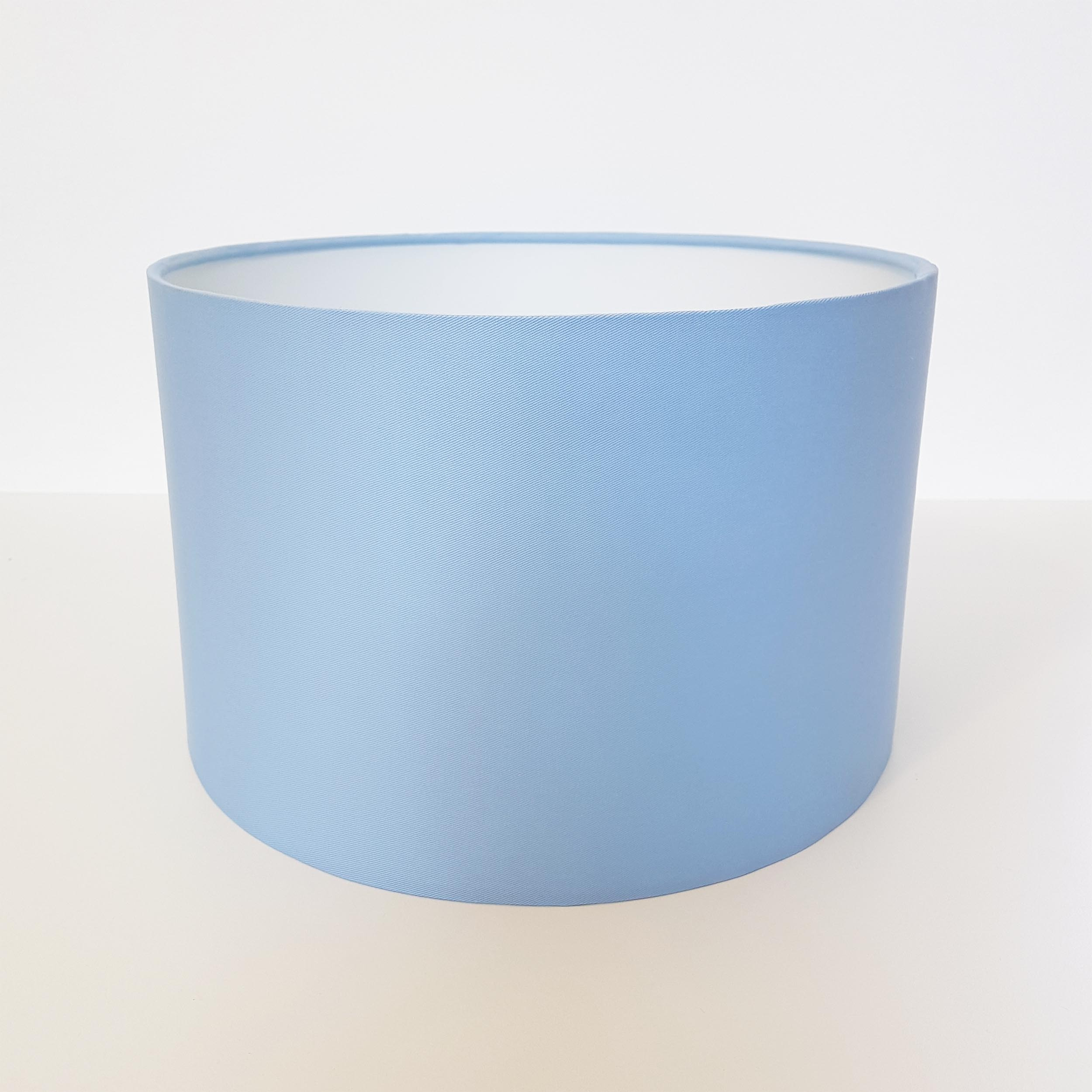 Baby Blue Lampshade in Cotton Fabric