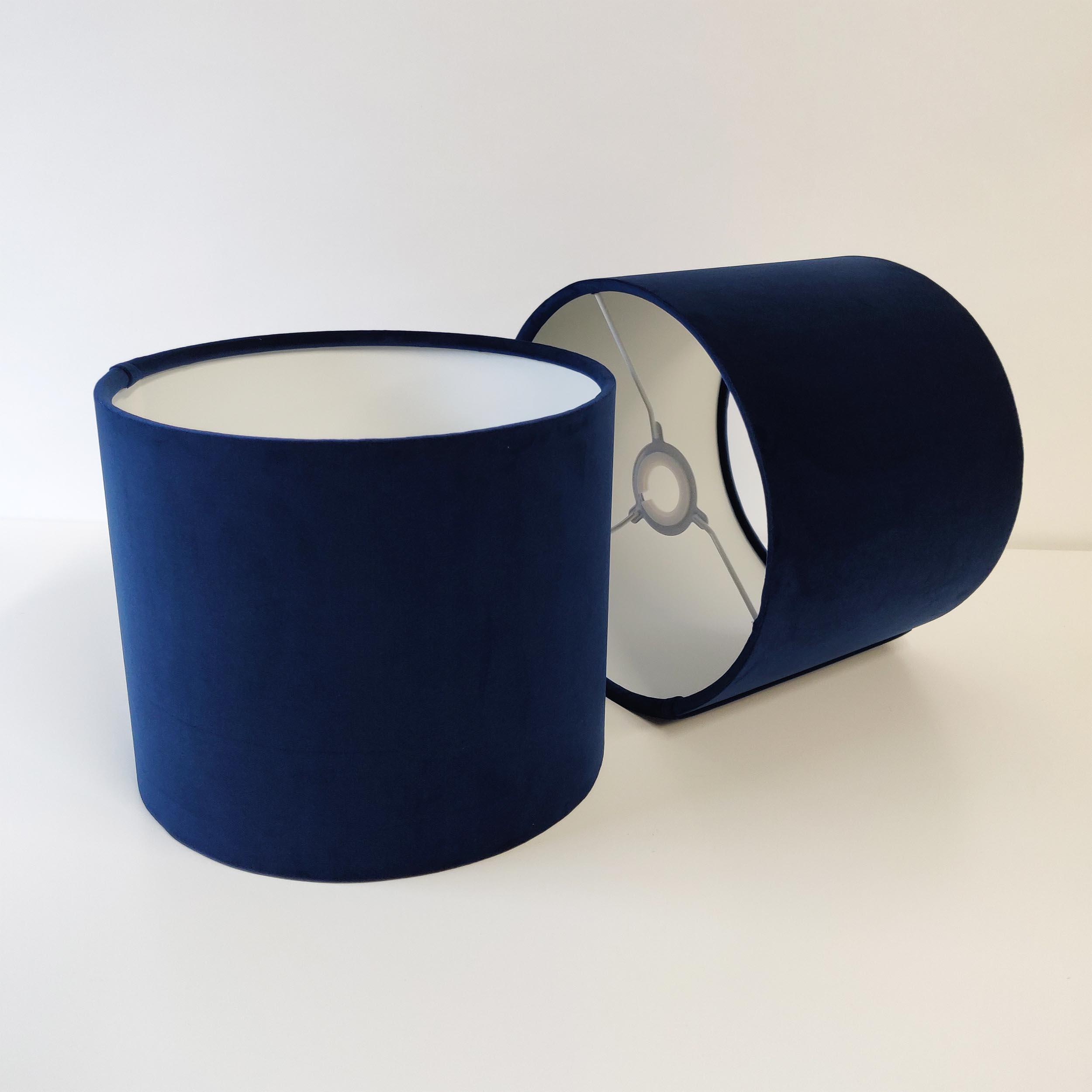 Navy Blue Velvet Lampshade