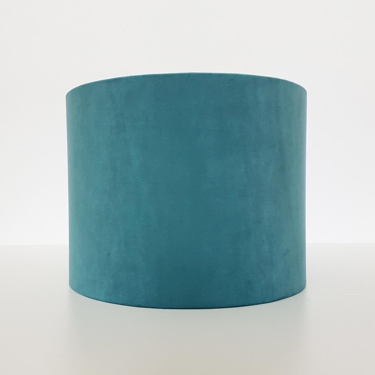 Soft Teal Blue Velvet Lightshade