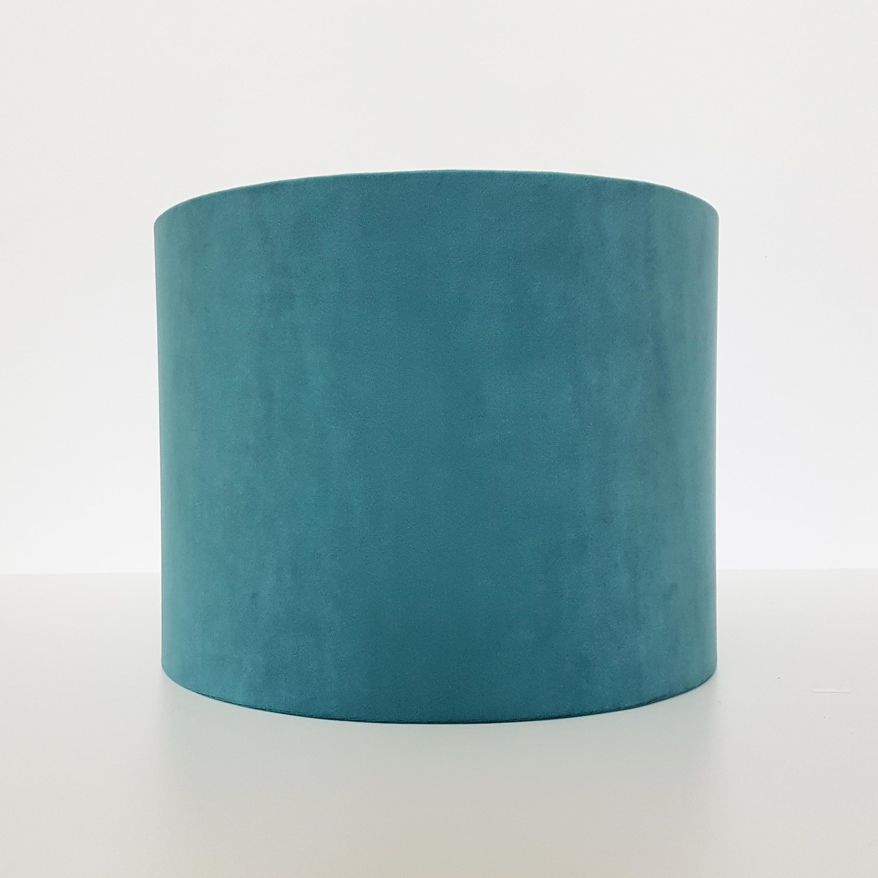 Candid Owl Teal Velvet And Brushed Gold Lampshade