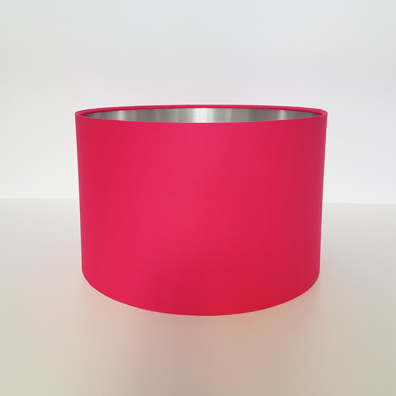 Bright Pink and Silver Lampshade, Cotton