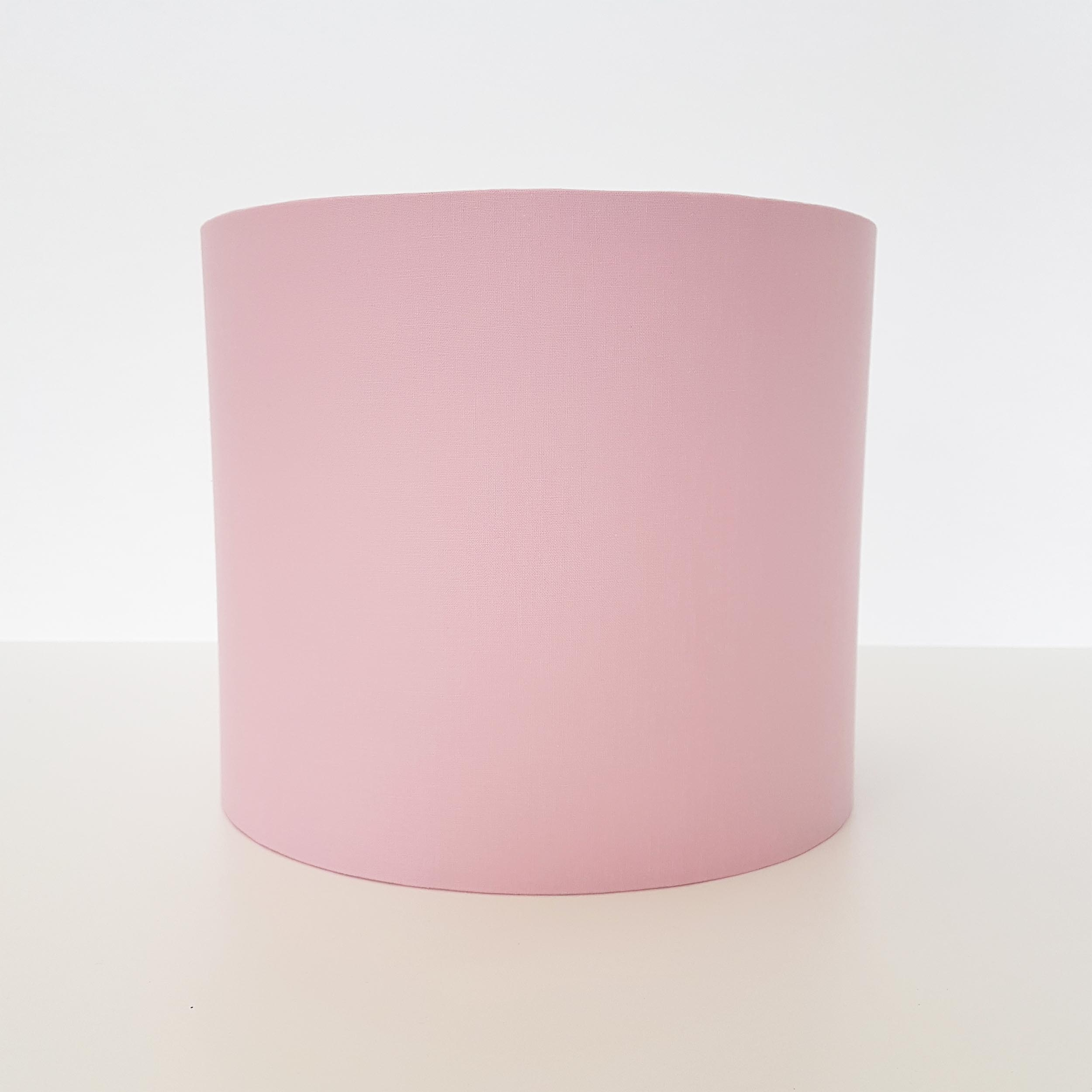 Pale pink cotton lampshade