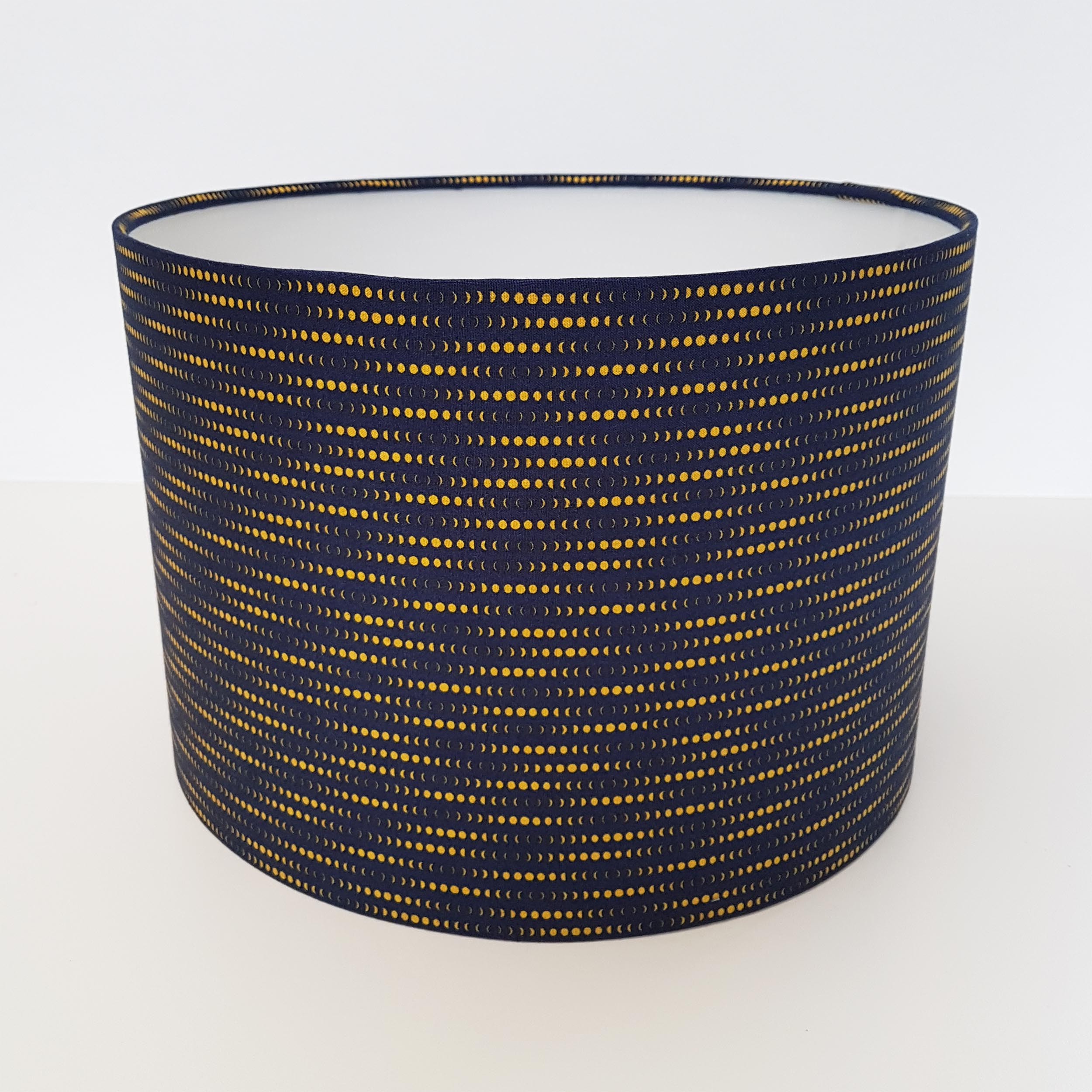 Navy Blue and Mustard Lampshade, Phases of the Moon