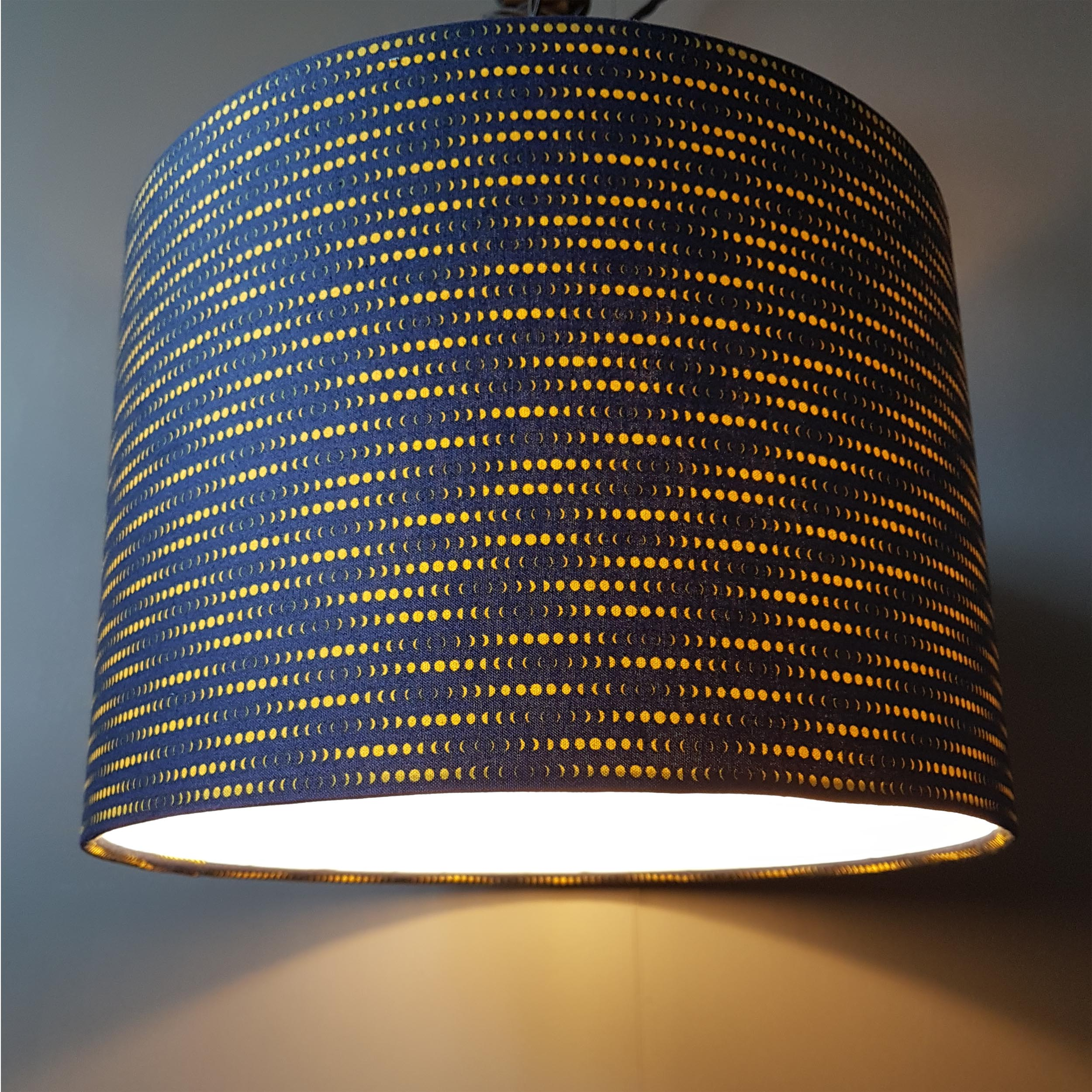Phases of the Moon Fabric Lampshade