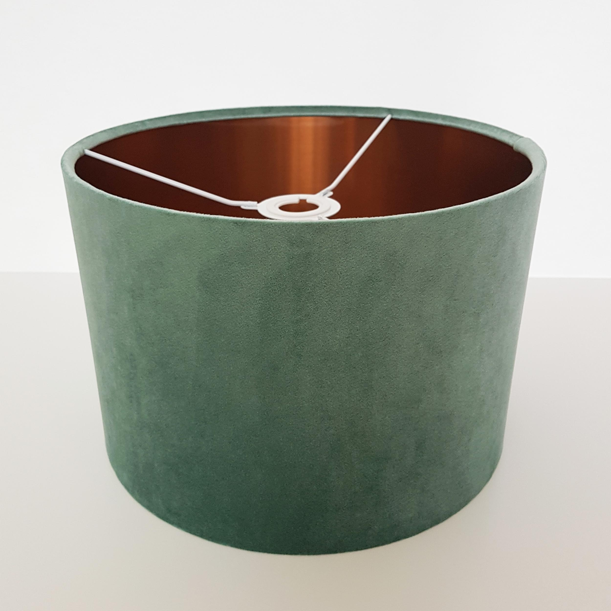 Mint and Copper Lined Lampshade