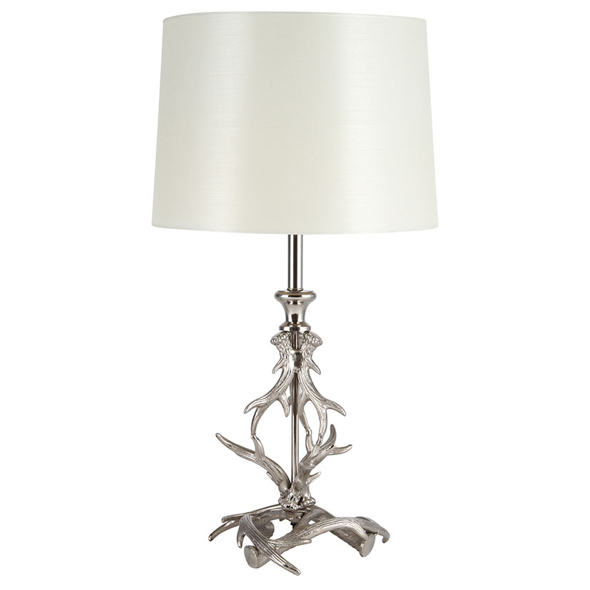 Nickel Antler Table Lamp
