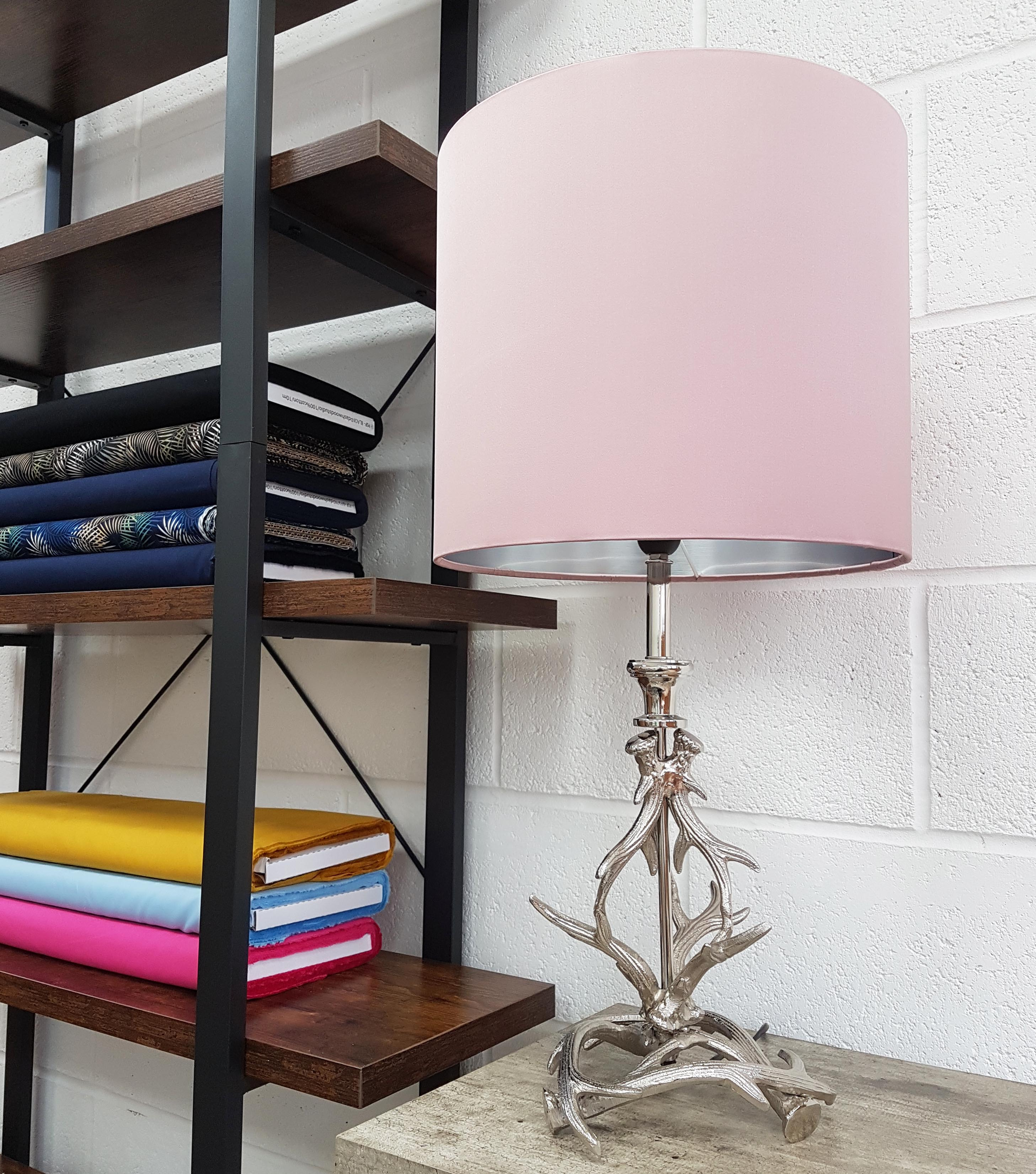 Silver Decorative Table Lamp in Antler Design