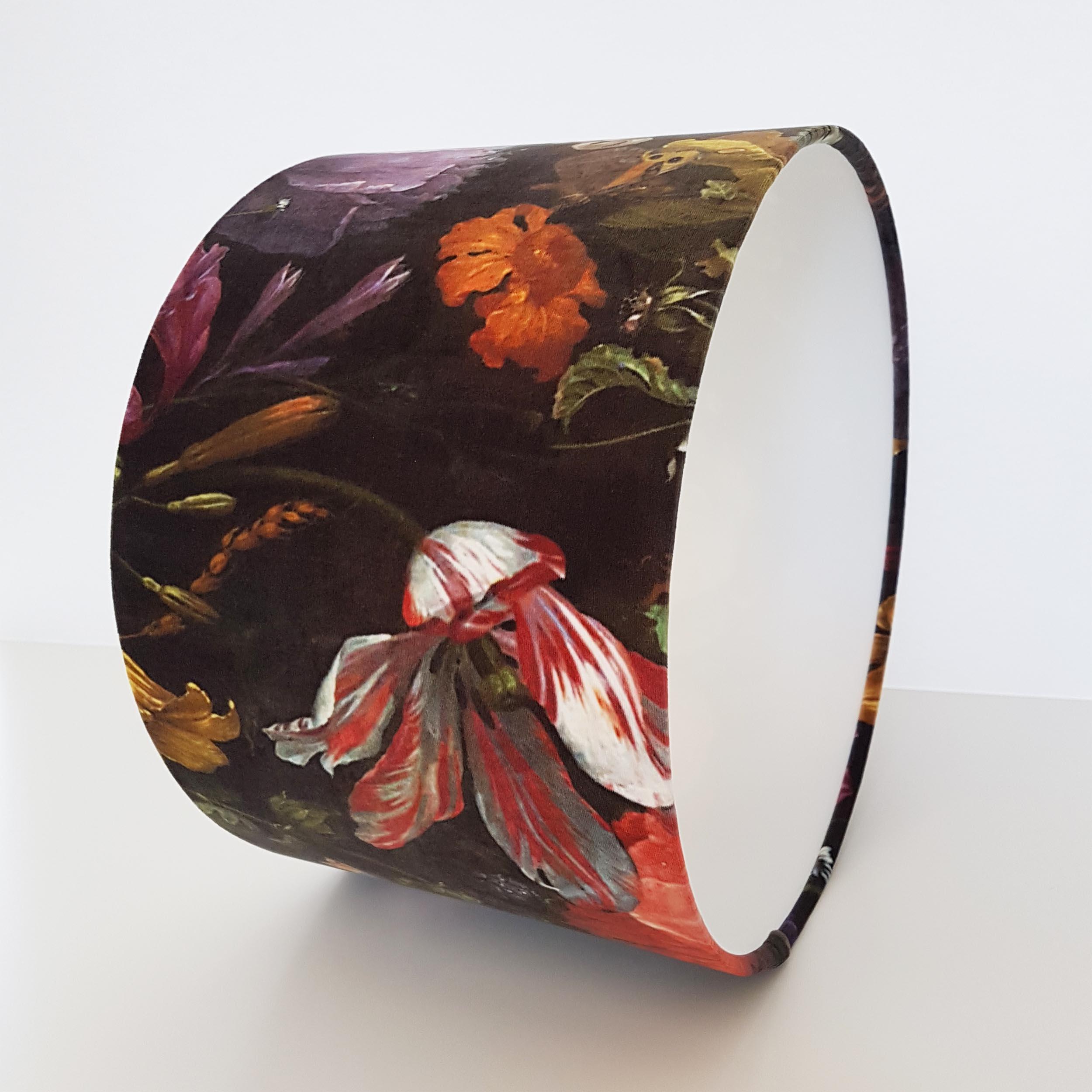 Floral Velvet Lampshade