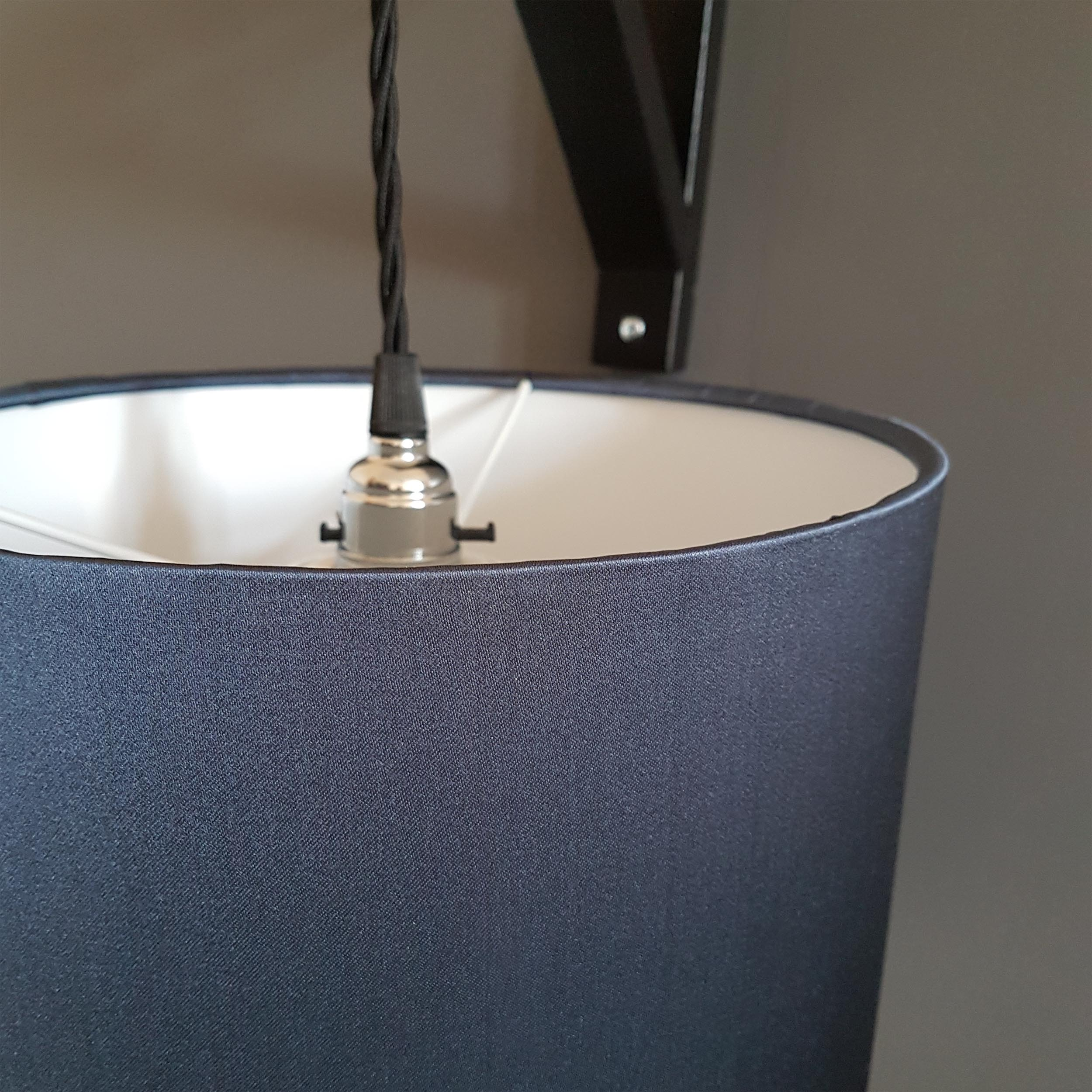 Deep Blue Satin Lamp Shade