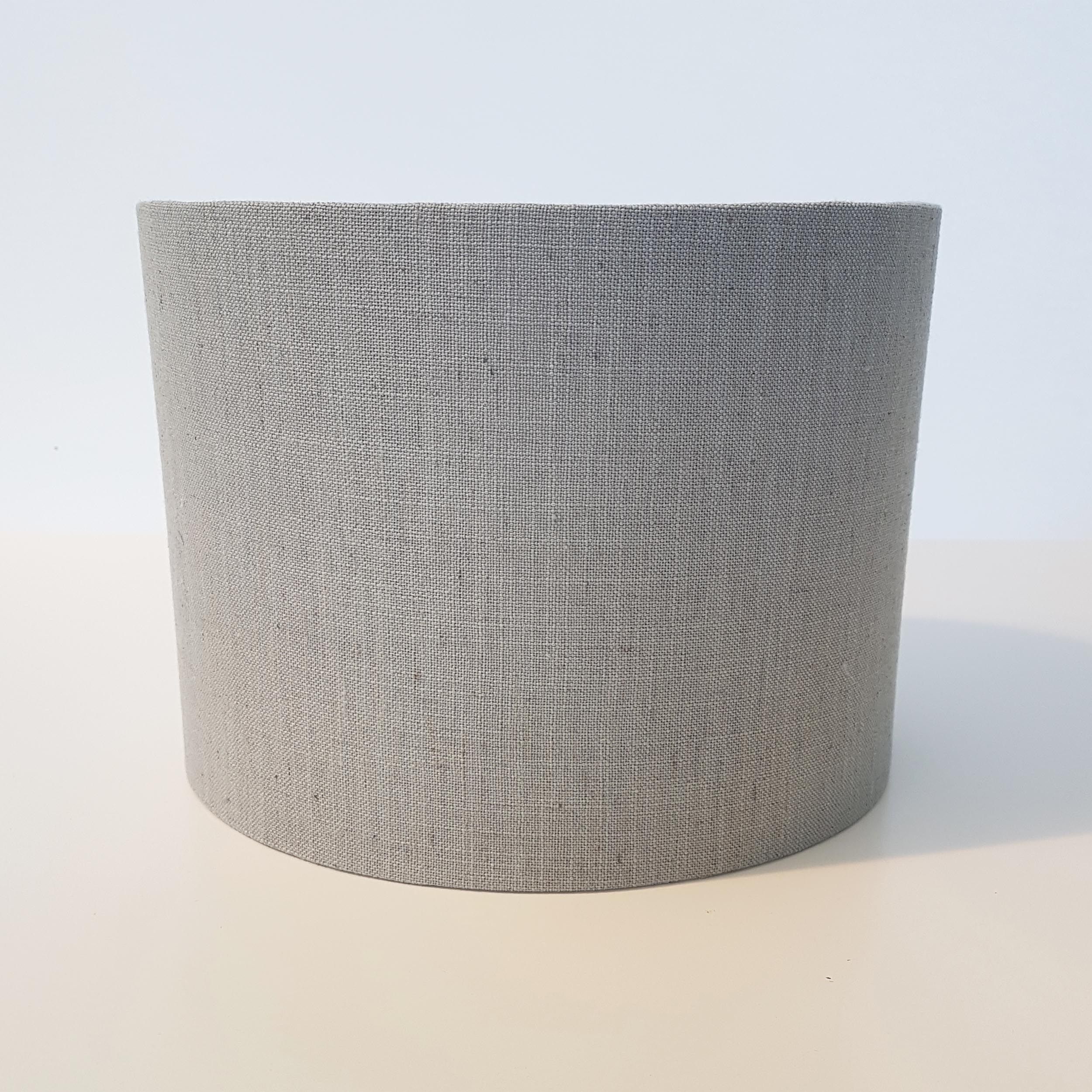 Dove Grey Linen and Silver Lined Lampshade
