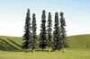 "Bachmann Scene Scapes 32155 2"" to  4"" Conifer Trees (36)"