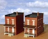 Custom Model Railroads HO Hampden Rowhouse End Units Kit