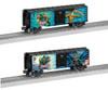 Lionel O 6-82950 3-Rail Box Car 2-Pack, Justice League, 1 Each: Aquaman, Martian Manhunter (d)
