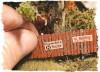Bar Mills Scale Model Works HO 0042 Insta-Fence (160 Scale Feet of laser cut wood Fencing)