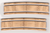 "Blair Line HO 113 Laser-cut 27""-29"" Radius Curved Wood Grade Crossing (2 sets)"