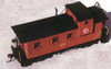 American Model Builders HO 857 Chicago Great Western 28' Extended Vision Wood Cupola Caboose Kit