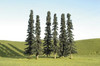 """Bachmann Scene Scapes 32156 4"""" to 6"""" Conifer Trees (24)"""