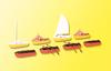 Kibri HO 39159 (4) Rowing (2) Motor (2) Sailboats