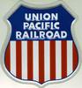 "Microscale 10002 Union Pacific Railroad 8"" Shield Embossed Aluminum Sign"