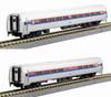 Kato N 1068013 Amfleet I Coach and Cafe Amtrak (Phase I) 2-Car Set B