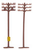 Bachmann N 42506 Telephone Poles (12 pieces)