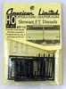 """American Limited HO 9710 Stewart """"FT"""" Diesel Operating Diaphragms (Black)"""